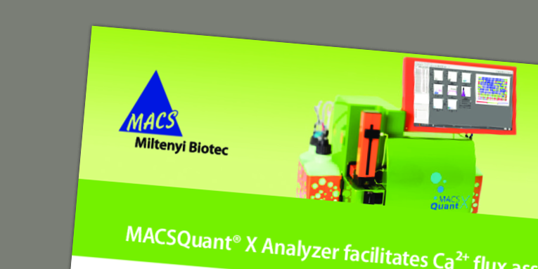 MACSQuant® X Analyzer facilitates Ca2+ flux assays