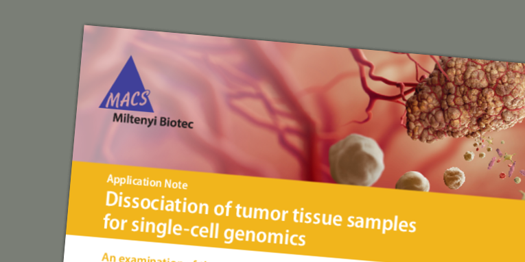 Dissociation of tumor tissue samples for single-cell genomics