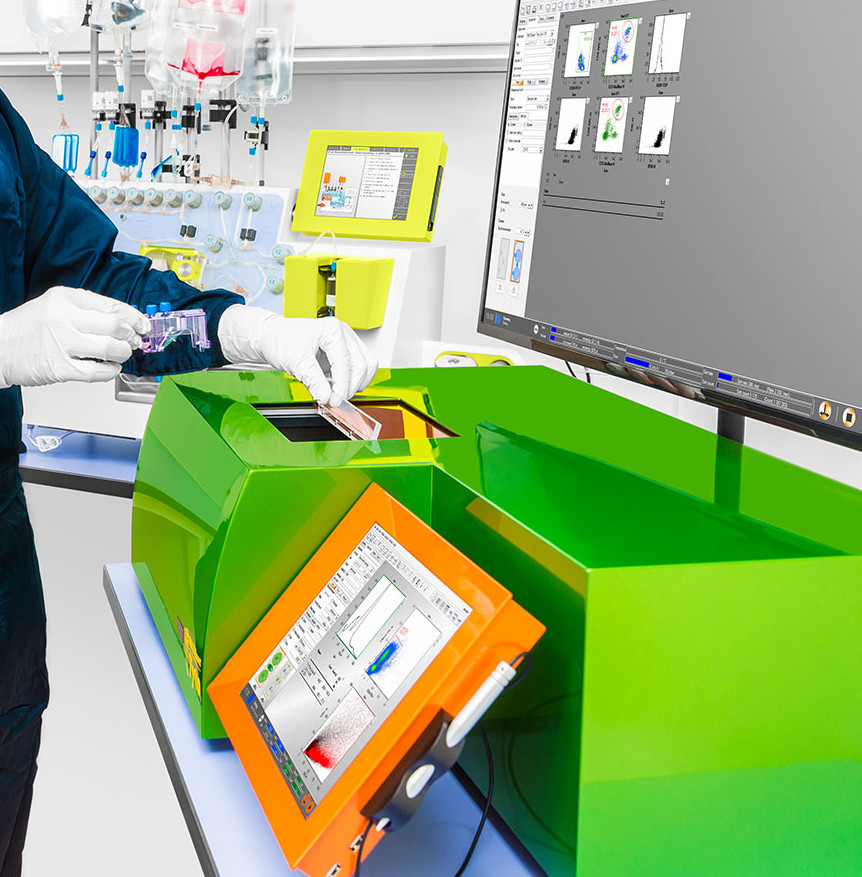 GMP-compliant cell sorting