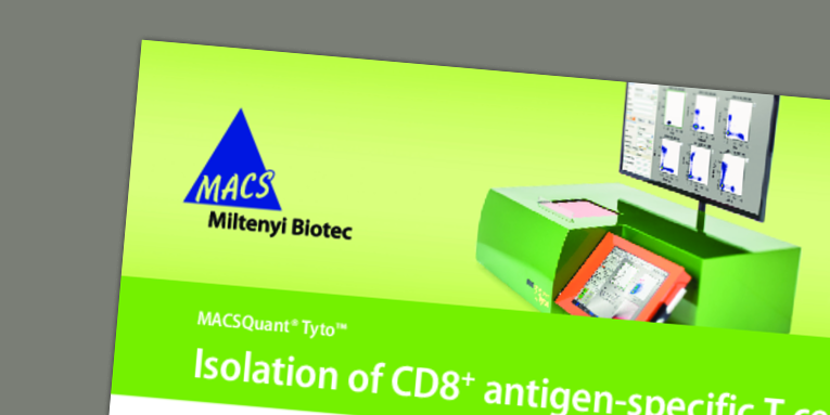 Isolation of CD8+ antigen-specific T cells with the MACSQuant® Tyto® Cell Sorter