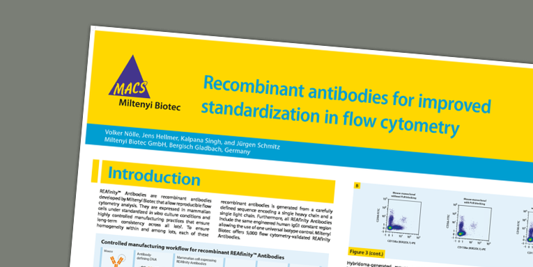Recombinant antibodies for improved standardization in flow cytometry