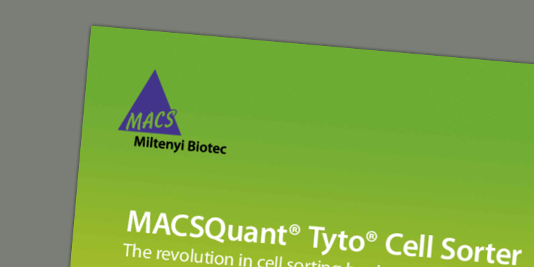 MACSQuant® Tyto® Cell Sorter - The revolution in cell sorting has begun