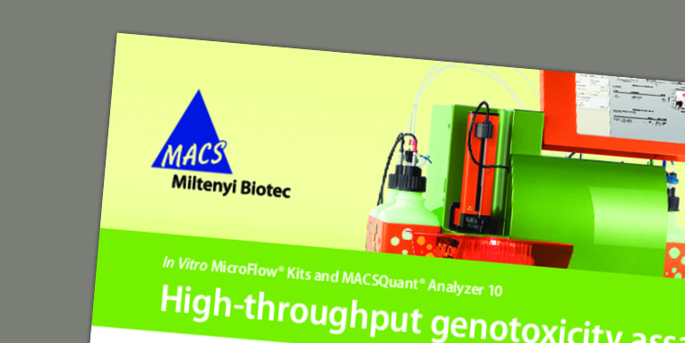 In Vitro MicroFlow® Kits and MACSQuant® Analyzer 10: High-throughput genotoxicity assays