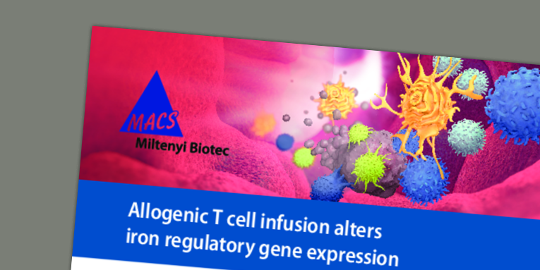 Allogenic T cell infusion alters iron regulatory gene expression