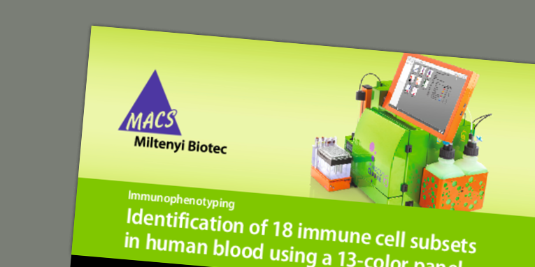 Immunophenotyping: Identification of 18 immune cell subsets in human blood using a 13-color panel