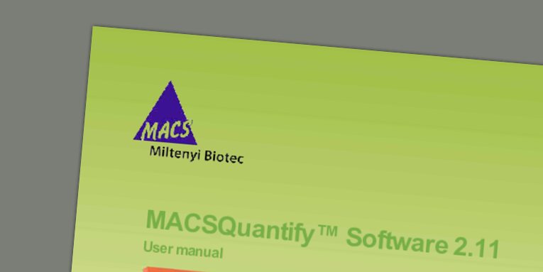 MACSQuantify Software 2.11 user manual
