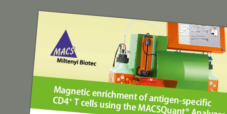 Magnetic enrichment of antigen-specific CD4+ T cells using the MACSQuant® Analyzer 10 enables the in-depth characterization of vaccine-induced circulating follicular T helper cells. Bergmann-Leitner, E. et al. (2016)