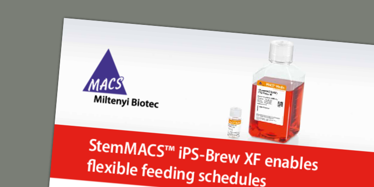 StemMACS™ iPS-Brew enables flexible feeding schedules