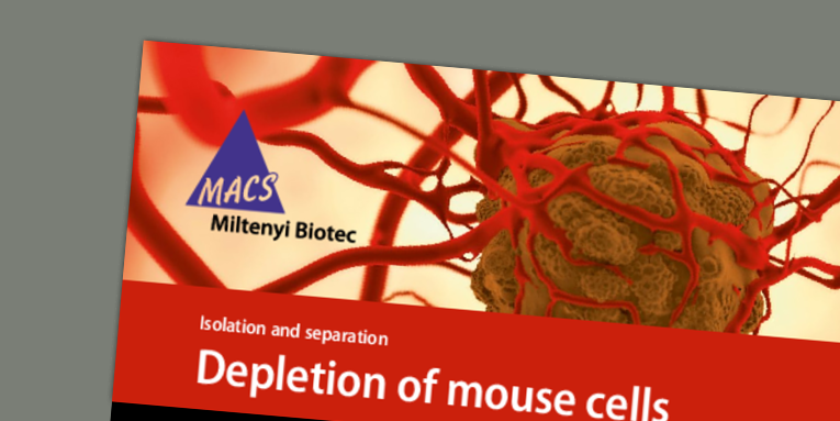 Depletion of mouse cells from dissociated patient derived xenograft tumors using the gentleMACS™ OctoDissociator with Heaters, followed by magnetic cell separation. Moro, M. (2014)