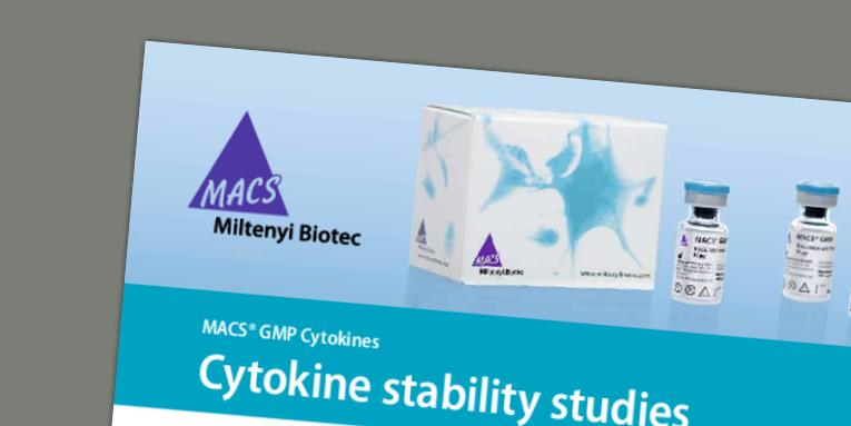 MACS® GMP Cytokines - Cytokine stability studies