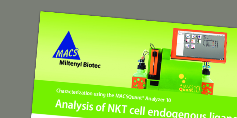 Characterization using the MACSQuant Analyzer 10 - Analysis of NKT cell endogenous ligands. Kain, L. et al. (2018)