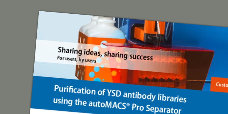 Purification of YSD antibody libraries using the autoMACS® Pro Separator