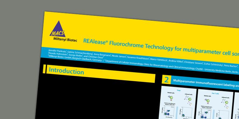 REAlease® Fluorochrome Technology for multiparameter cell sorting